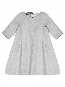 GAIA dress with sleeves gray