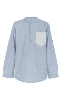 GINO blue shirt with dots for boy