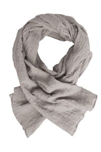 COLOURS OF FALL beige cotton scarf